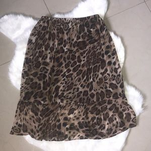 DRESS BARN Leopard Print Skirt